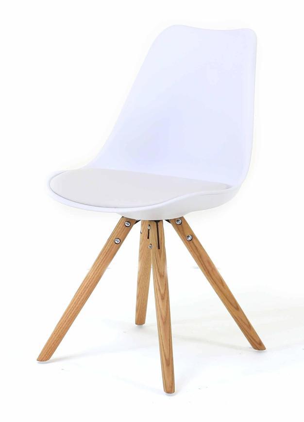 chaise moderne et design blanche