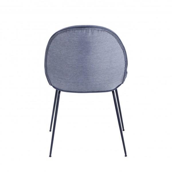 chaise velours gris clair moderne