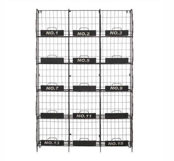 armoire étagères quadrillé industrielle