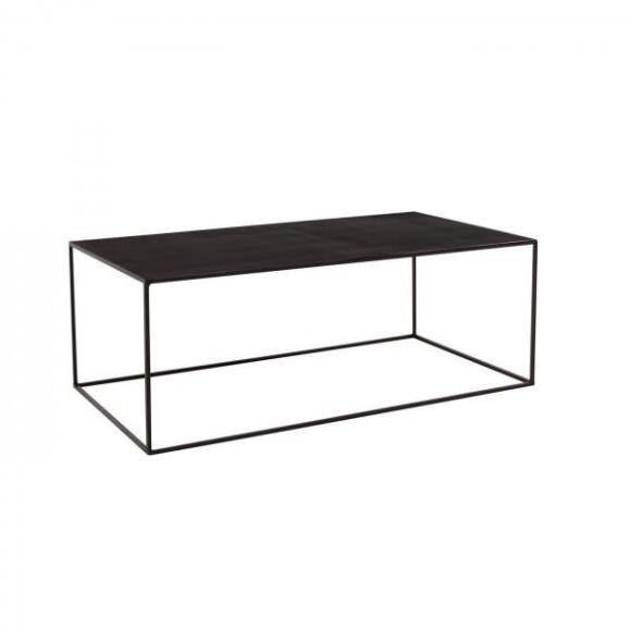table tron métal noir