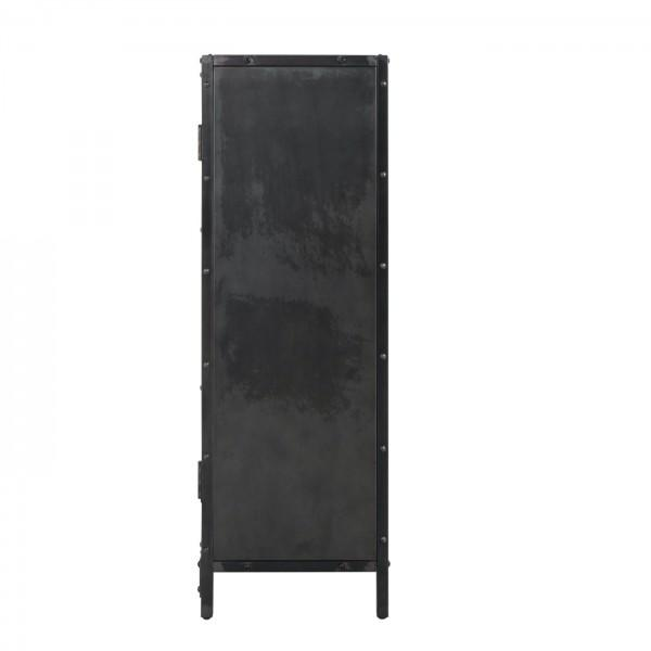 armoire style industrielle noire