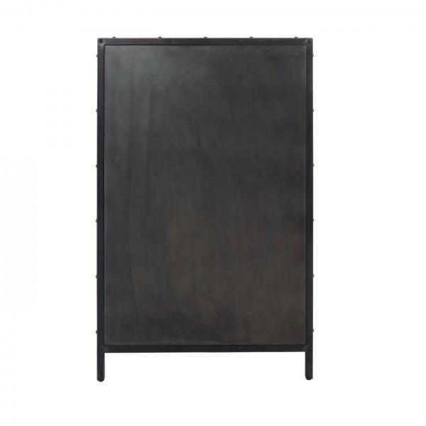 armoire noire métal vielli