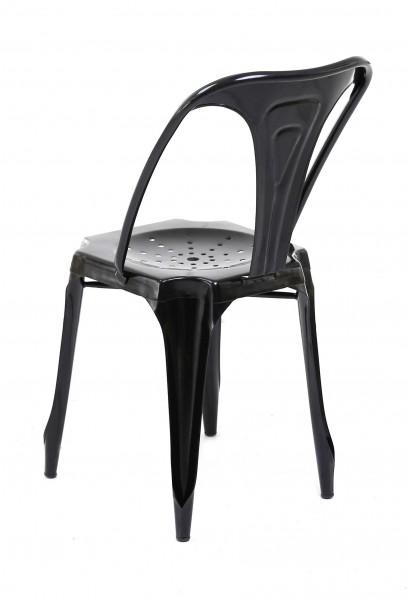 chaise dossier industrielle confortable noir