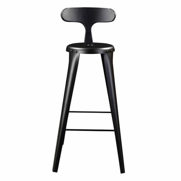 chaise hauteur bar noir mate