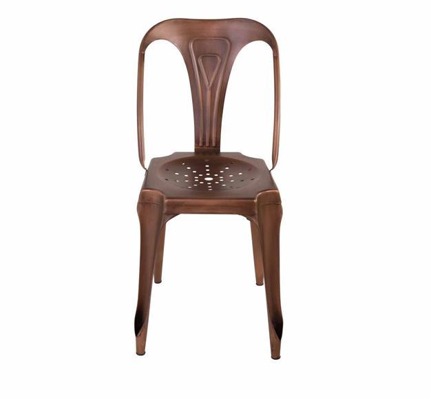 chaise dossier marron foncé moderne