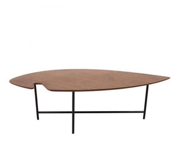table basse leaf pieds métal noir