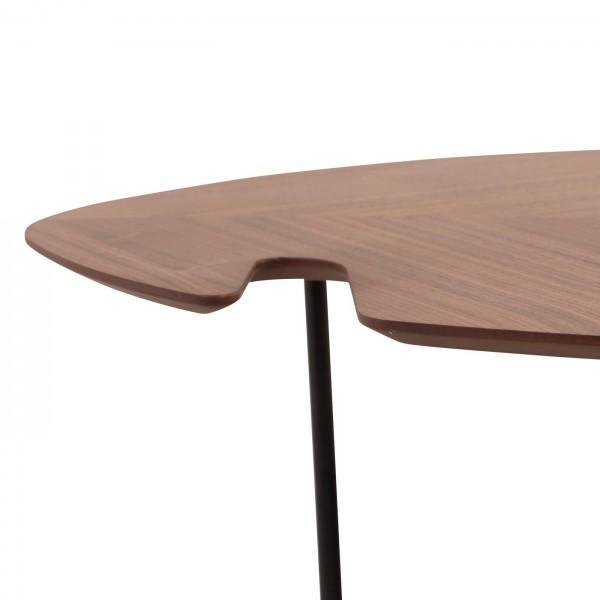 table basse pieds métal leaf