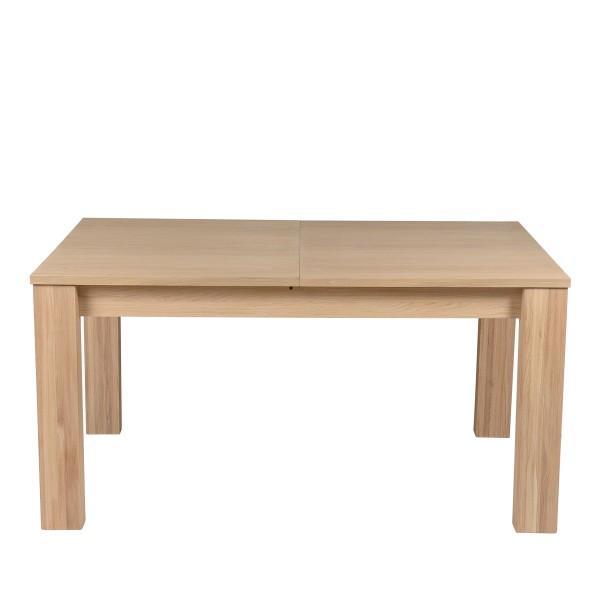 Table en chêne plaqué simple et design
