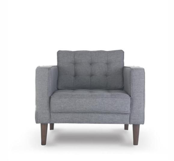 fauteuil piqué gris clair