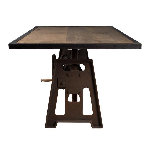 table plateau bois industrielle vieillie