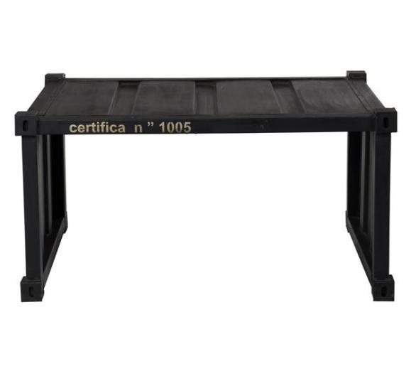 table industrielle container noir