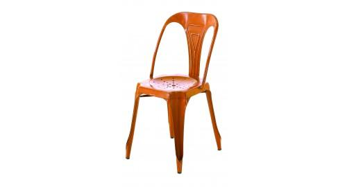 chaise industrie moderne orange lumineuse