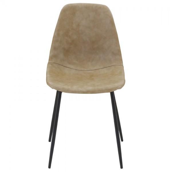 chaise avec assise pieds en métal
