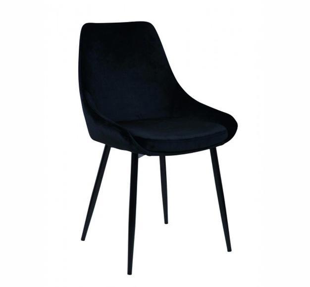 chaise velours couleurs confortable design