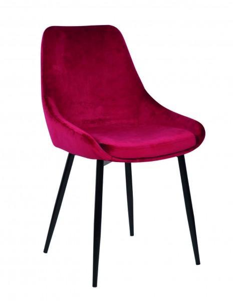 chaise vintage rose fushia velours