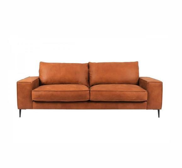 canapé cuir confortable design marron