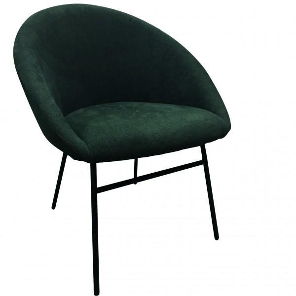 fauteuil solide velours vert foncé