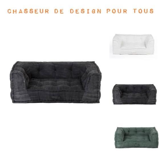 fauteuil modulable coton matelassé vintage