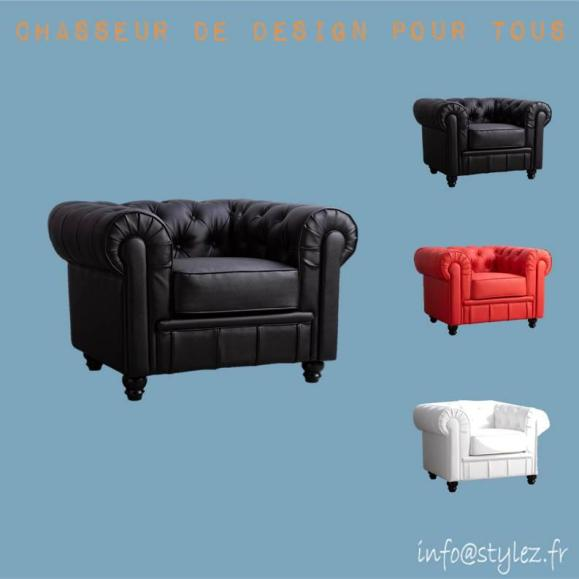 fauteuil anglais cuir vintage robuste