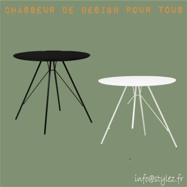 table plateau rond design élégante
