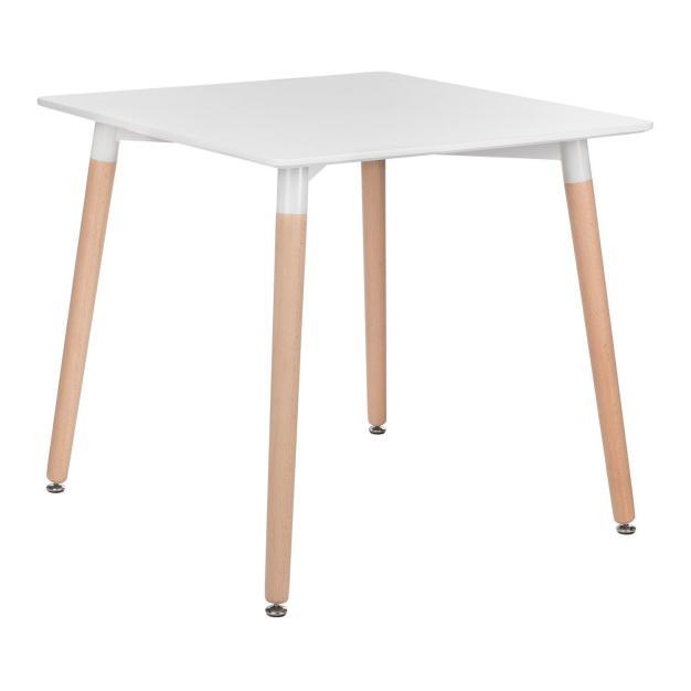 table élégante blanche polypro hêtre