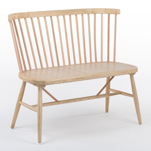 banc bois clair naturel scandinave