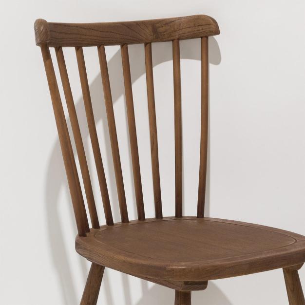 chaise dossier barreaux bois naturel