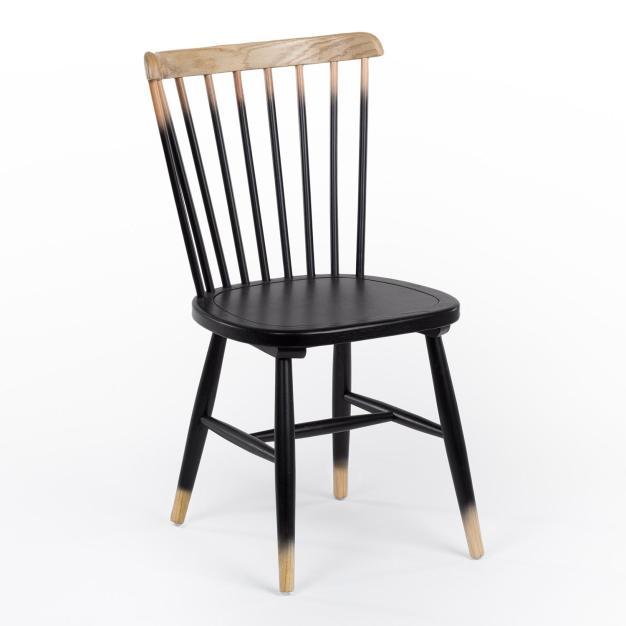 chaise bois scandinave dégradé sombre
