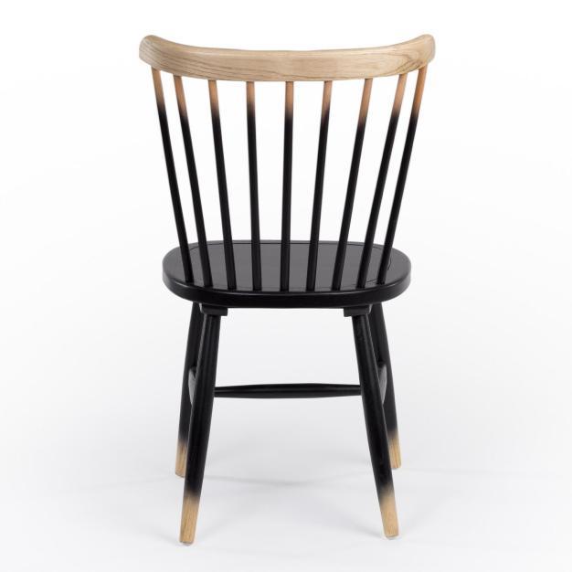 chaise dossier barreaux bois noir
