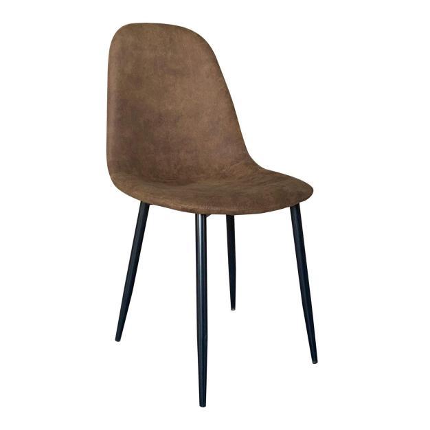 chaise contemporaine simili cuir camel