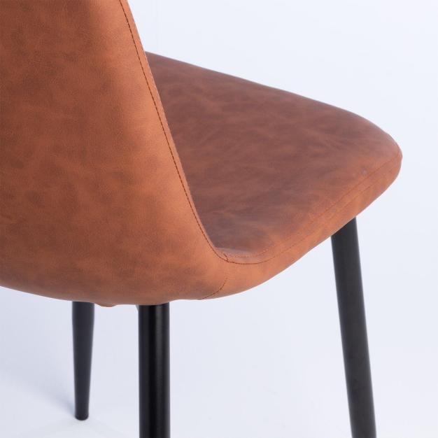 chaise design simili cuir qualité