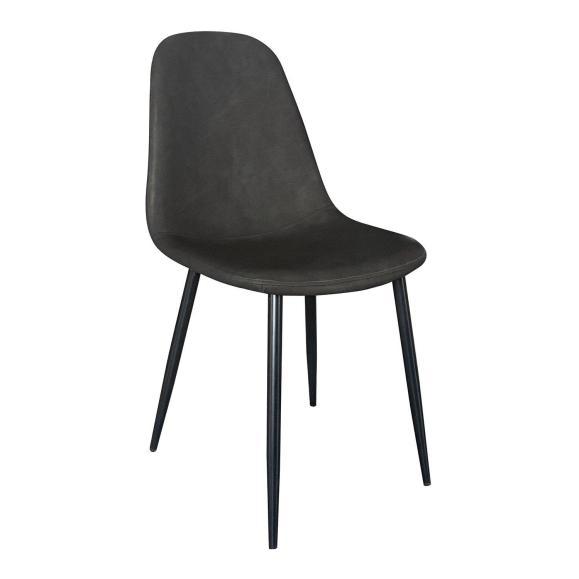 chaise pieds noir simili gris