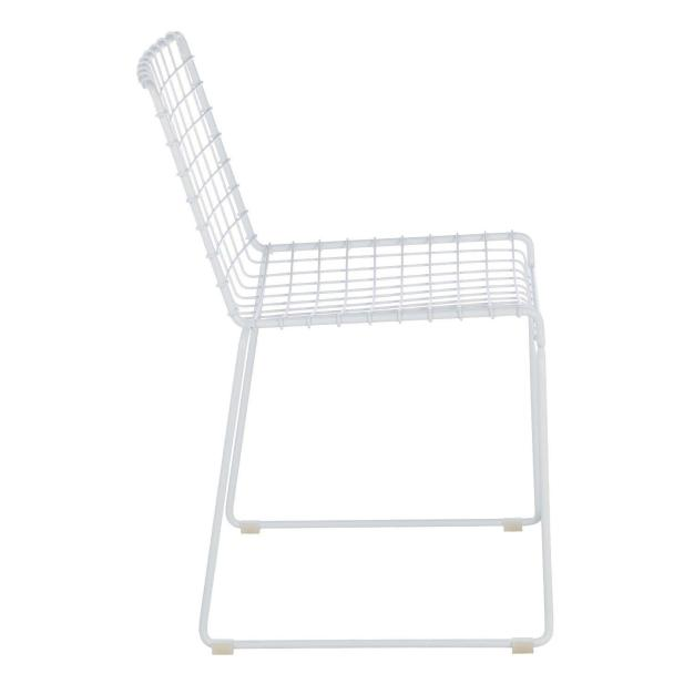 chaise métal blanche