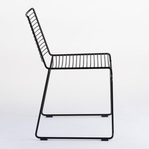 chaise lignes noire