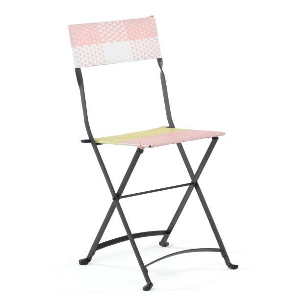 chaise exterieur rose