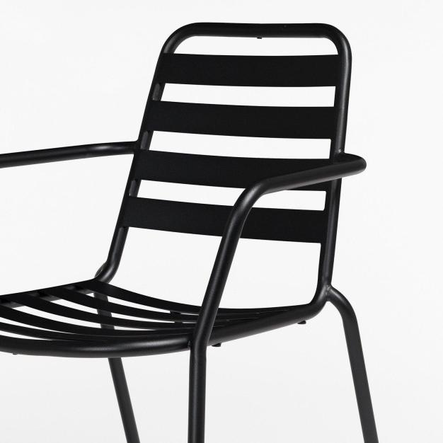 chaise alu noire
