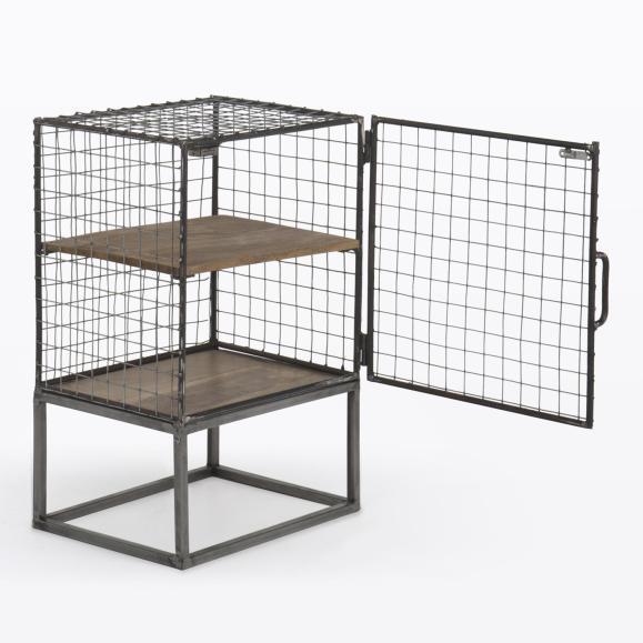 cage grillage gris
