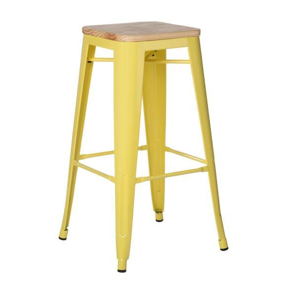 tabouret bar jaune