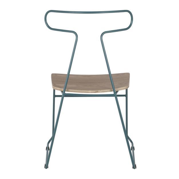 chaise bois bleu