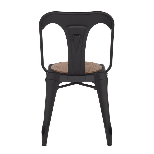 chaise en bois noire