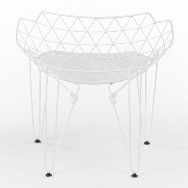 fauteuil grid blanc