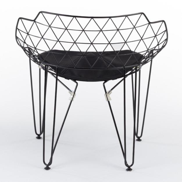 fauteuil chaise noire