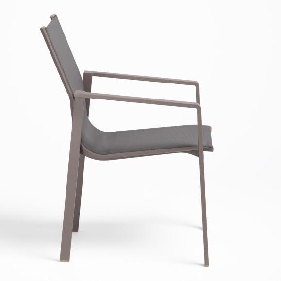 fauteuil gris exterieur