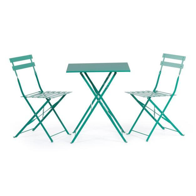 chaises industrielles bleu