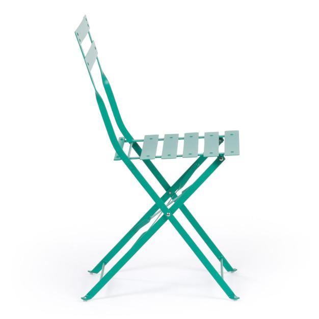 chaise extérieure bleu