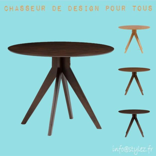 Table rond trepied