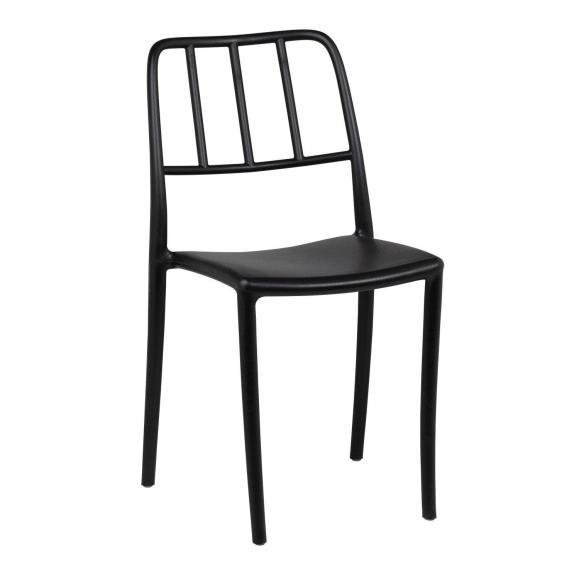 chaise noire industrielle