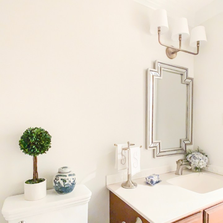 fox hollow traditional powder room reveal
