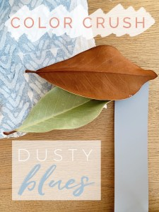 Styling Gypsy Interior Design - Color Crush on Dusty Blues. Inspiration for blue-gray paint colors.