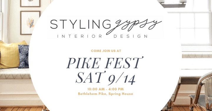 Lower Gwynedd Pike Fest 2019 Styling Gypsy Interior Design